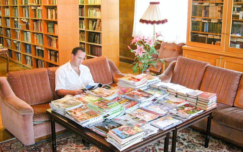 Фото библиотеки в санатории Красные камни. Кисловодск