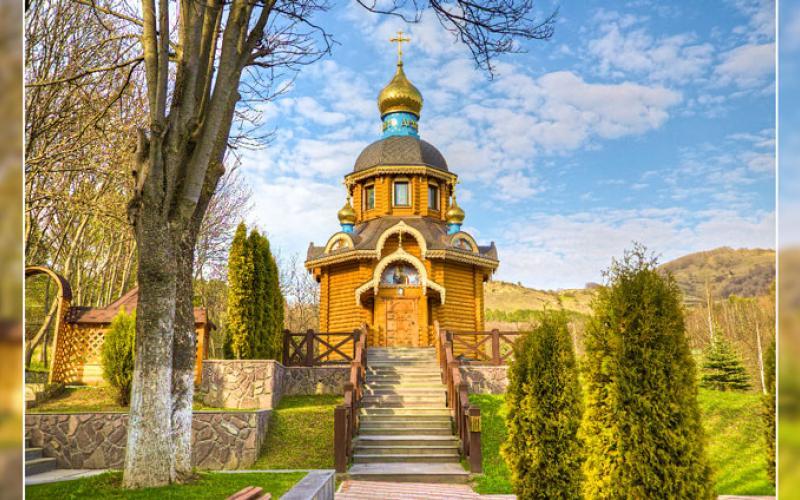 Храм на территории санатория Вилла Арнест в Кисловодске