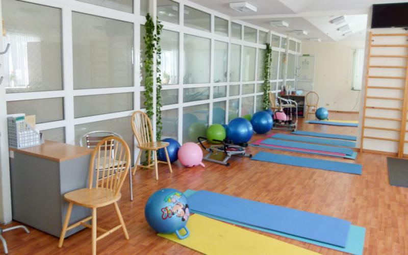 Зал для фитнеса в санатории Вилла Арнест в Кисловодске